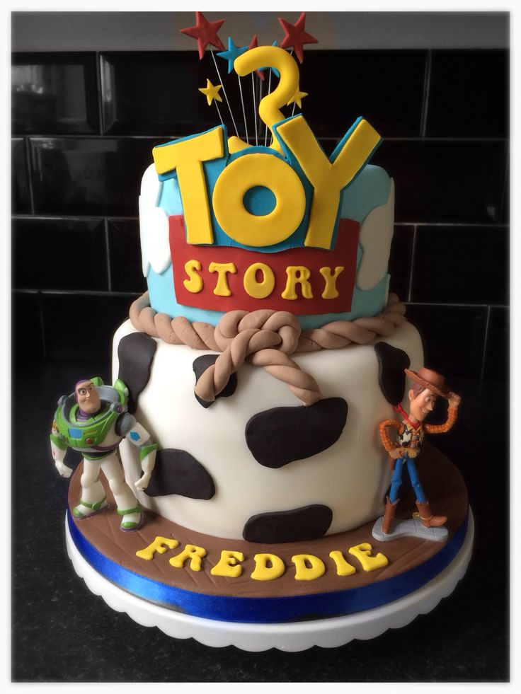 Toy Story Cake For A 3rd Birthday Featuring Woody Amp Buzz
