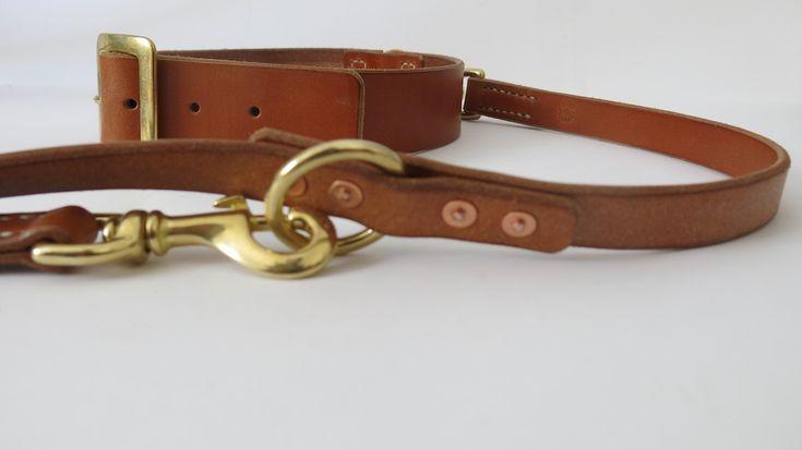 alexander von bronewski Hundeleine Hundehalsband handgenäht Leder