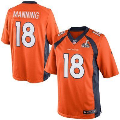Nike Peyton Manning Denver Broncos Super Bowl XLVIII Limited Jersey - Orange