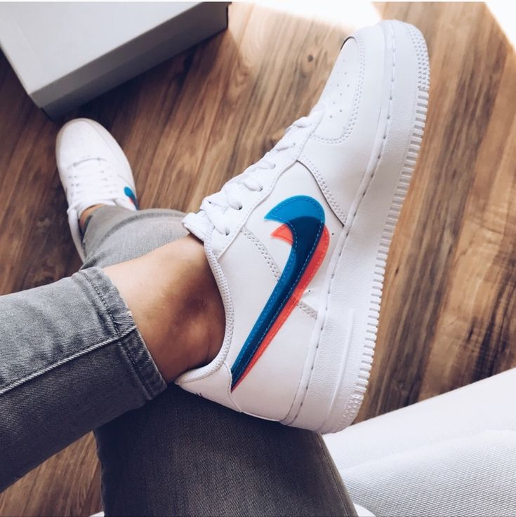 Nike air force 1 low 3D white | Nike air shoes, Nike fashion shoes ...