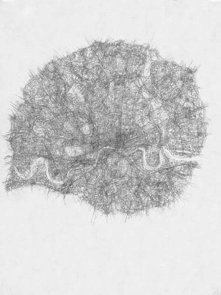 Kathy Prendergast - City drawings series