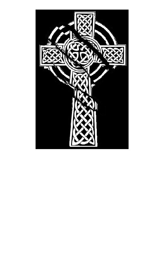 Early version of the 'torn cross' idea. I wanted to convey a sense of symbolism not only in the tale, but in the art as well. The torn cross is the visual story of Satan's attempt to destroy Christ on the cross. More than anything, Cellar Doors is a story of spiritual warfare and redemption.