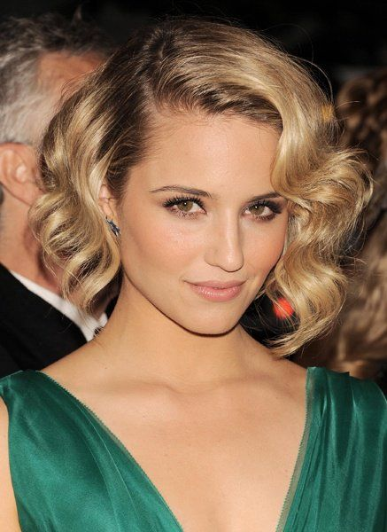 Chic Length Hairstyle with Big Waves