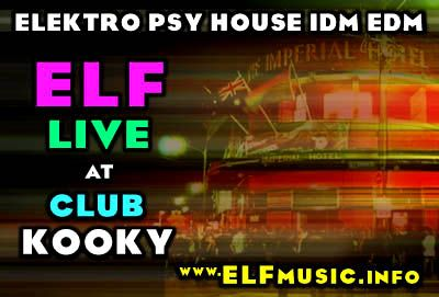 Sydney Australia Live Electronic Intelligent Dance Music EDM IDM Scene Sound Artists Producers Bands Groups Record Labels Musicians ELF E.L.F. Australian Nightclub Club Kooky Imperial Hotel Erskineville NSW Night Clubs Parties Raves Projects Gigs Flyers Posters Photos