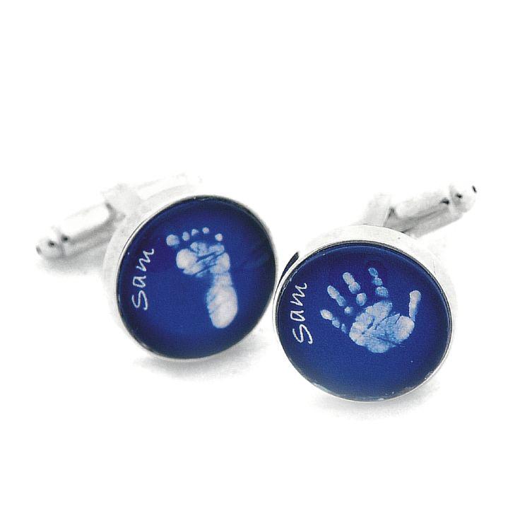 Baby hand and foot print cufflinks