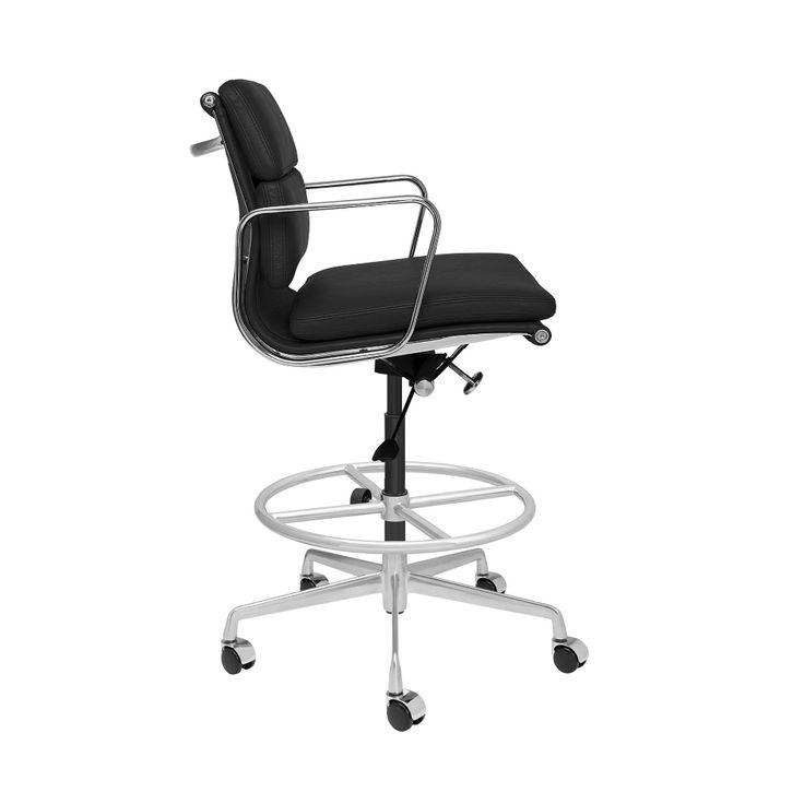 Soho premier soft pad drafting chair black italian