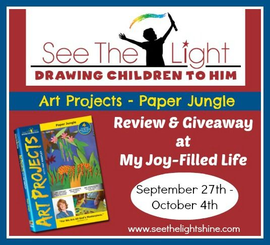 Last day to enter to win the Paper Jungle Art Projects DVD from See the Light!  Ends today (10/4)