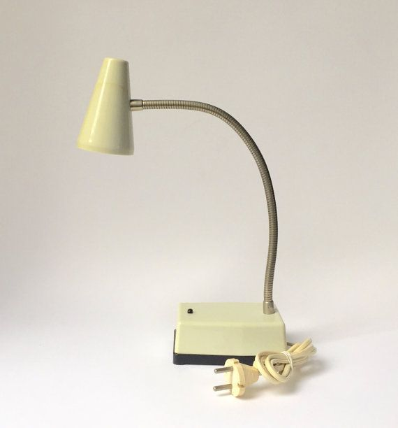 SALE 20% vintage desk lamp beige goose neck adjustable made in Germany 60's 70's