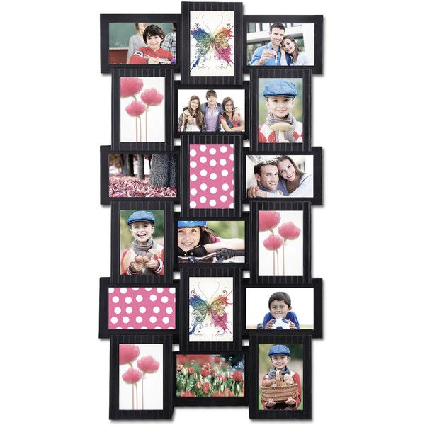 18 opening 4x6 black plastic wall hanging collage picture photo frame 47 liked on polyvore. Black Bedroom Furniture Sets. Home Design Ideas