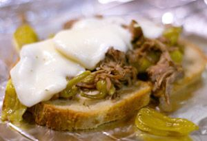 Slow Cooker Peperoncini Beef Sandwiches - SBD2