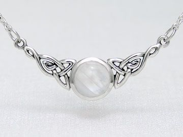 Sterling Silver Celtic Trinity Knot & Moonstone Necklace  I'm currently obsessed with this website!!! So many beautiful things for so cheap!