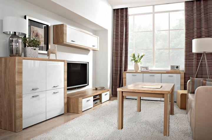 Wohnwand für moderne Wohnzimmer - 24 modulare Schrankwände ...