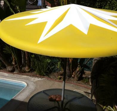 Mid Century Modern Fiberglass Patio Umbrella-awesome!