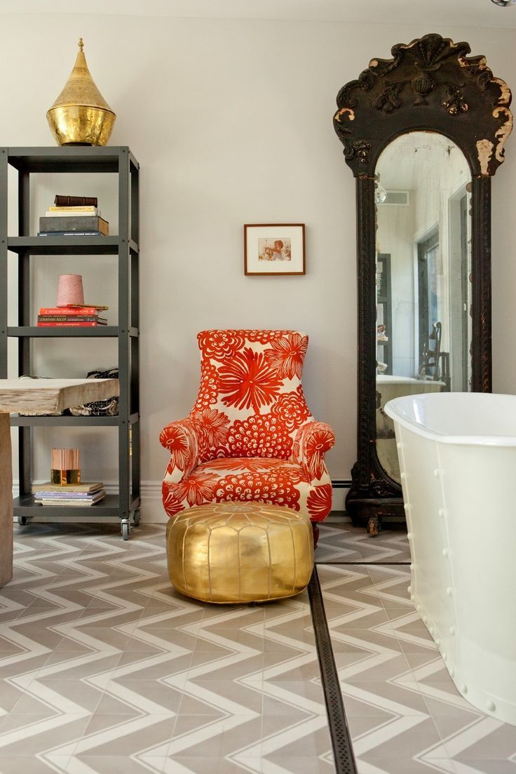 a chair ive had for many years becomes a spot to sit and talk - Genevieve Interior Designer