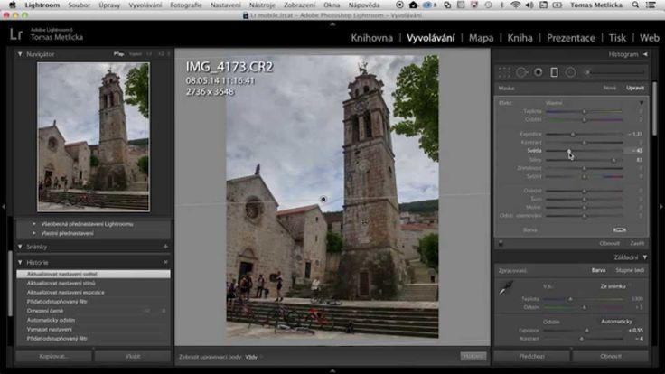 Odstupňovaný filtr v Adobe Photoshop Lightroomu