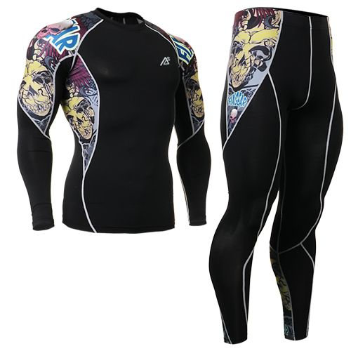 ==> [Free Shipping] Buy Best 2016 cycling clothing set sports clothing set top leopard sports sets tattoo design leggings ropa de segunda mano online Online with LOWEST Price | 32391516439