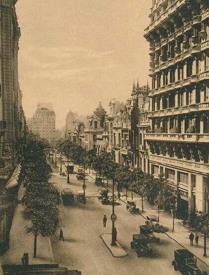 Avenida Callao en 1910. Fuente AGN.