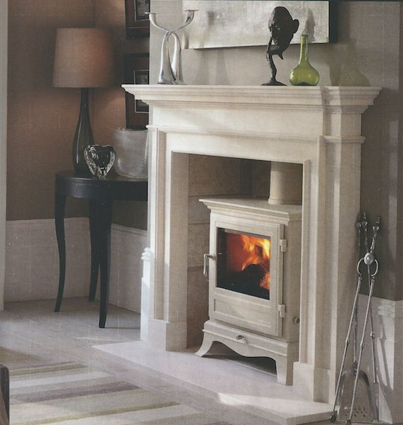 traditional fireplace with log burner - Google Search