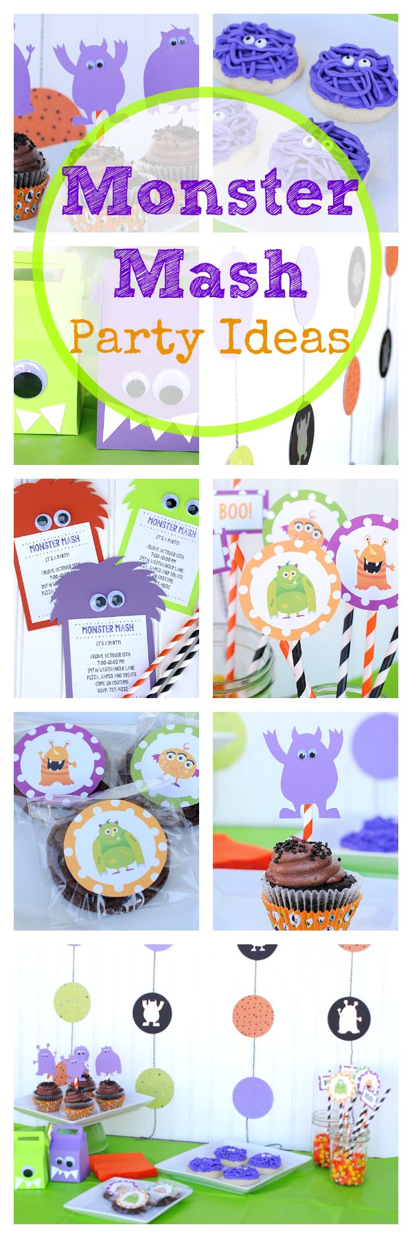 Tons of Monster Themed Halloween Party Ideas. I love the DIY invitations in this roundup.