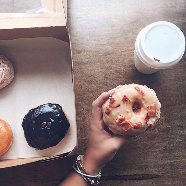 Gimme some of that bacon-donuty goodness 👋🏽  at Glory Hole Doughnuts in Toronto