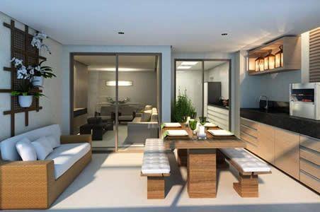 móveis para sacada mesa com bancos e sofá