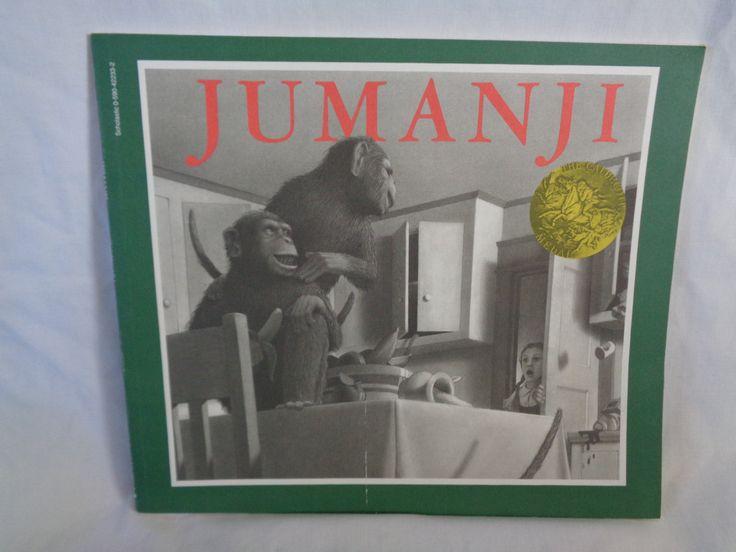 vintage 1988 Jumanji book by Chris Van Allsburg by TheVintageKeepers on Etsy