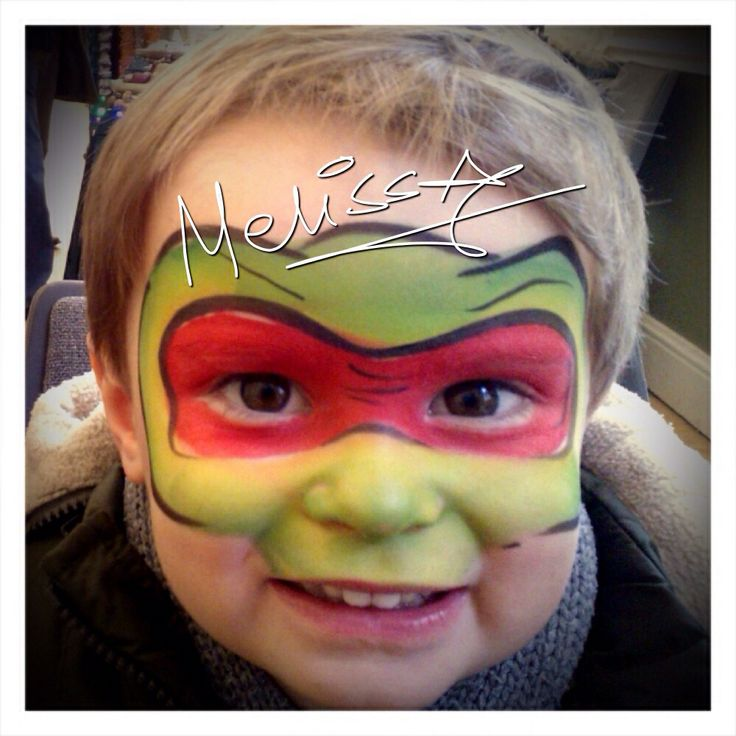 ninja turtles face painting - Halloween Easy Face Painting