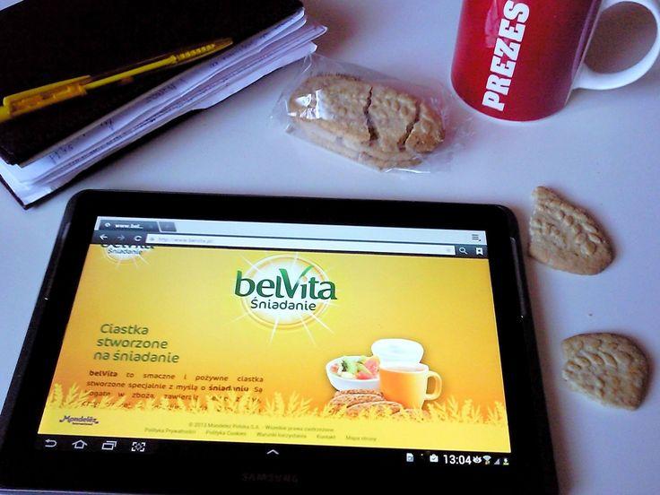 Ciastka belVita idealne do pracy ...   #dlaMistrzówPoranka https://www.facebook.com/photo.php?fbid=1210467462314077&set=o.145945315936&type=3&theater