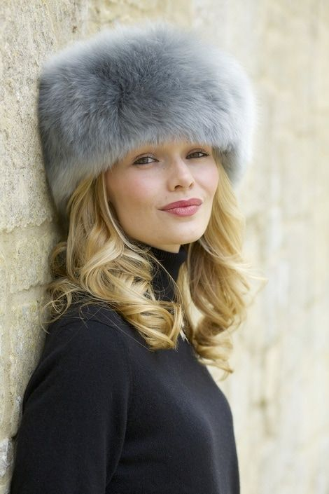 Locerine silver grey Sumac alpaca fur hat