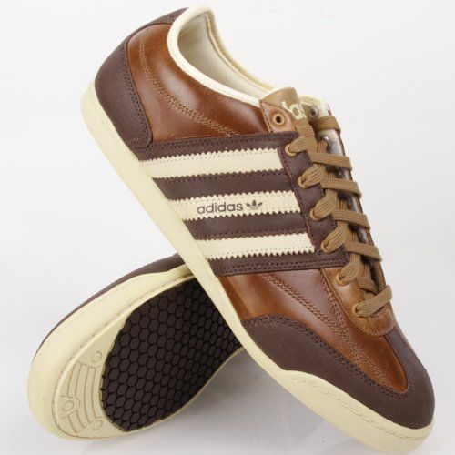 brown leather adidas trainers drawing