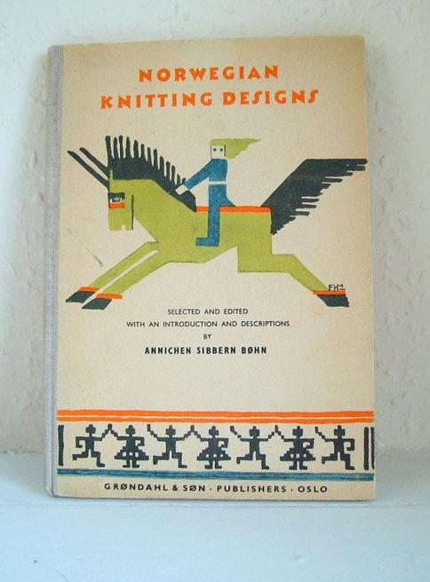 Amazing 1950s NORWEGIAN Knitting Pattern Book  par YolkiVintage
