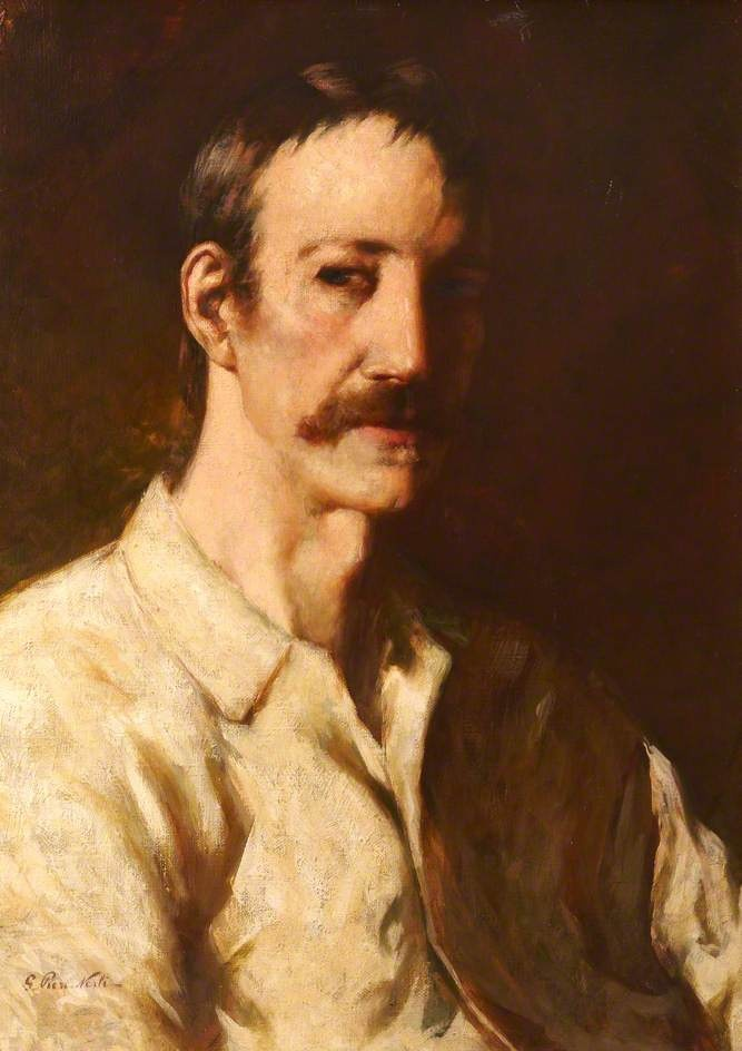 Robert Louis Stevenson (1850–1894), Vailima, Samoa by Girolamo Pieri Nerli (City of Edinburgh Council) #movember