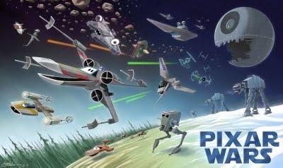 Pixar Wars: Pixar Wars, Andrew Chesworth, Pixar Star, Stuff, Disney Star Wars, Stars, Art, Movie, Starwars