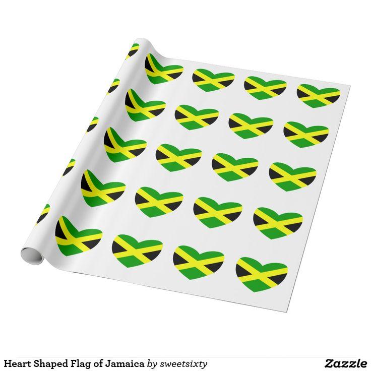Heart Shaped Flag of Jamaica