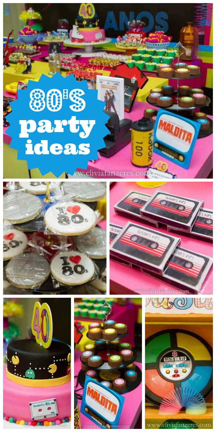 16 best 80s Party Ideas images on Pinterest Birthday party ideas