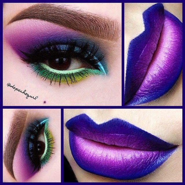 "#ShareIG My Secret Garden (inspired by Depeche Mode) Lips - @Melt Cosmetics ""DGAF,"" ""By Starlight,"" ""Shady Lady,"" & ""Darling"" Lipsticks. Eyes - @Violet Voss ""Giselle"" & ""Bridgette"" Eyeshadows. @Sugarpill Cosmetics ""Poison Plum"" & ""2 AM"" Eyeshadows. Stila ""Mint Julep"" Eyeliner in the waterline and @limecrimemakeup ""Blue Milk"" Liner. MAC ""Atlantic Blue"" Eyeshadow and @NYX Cosmetics ""Psychedelic"" Eyeshadow. @five11_cosmetics ""Sasha"" Mink Lashes and all @Amanda @ Black Rabbit Studio brushes…"