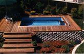 deck above ground fiberglass pool   Deck swimming pools, above ground lap pools