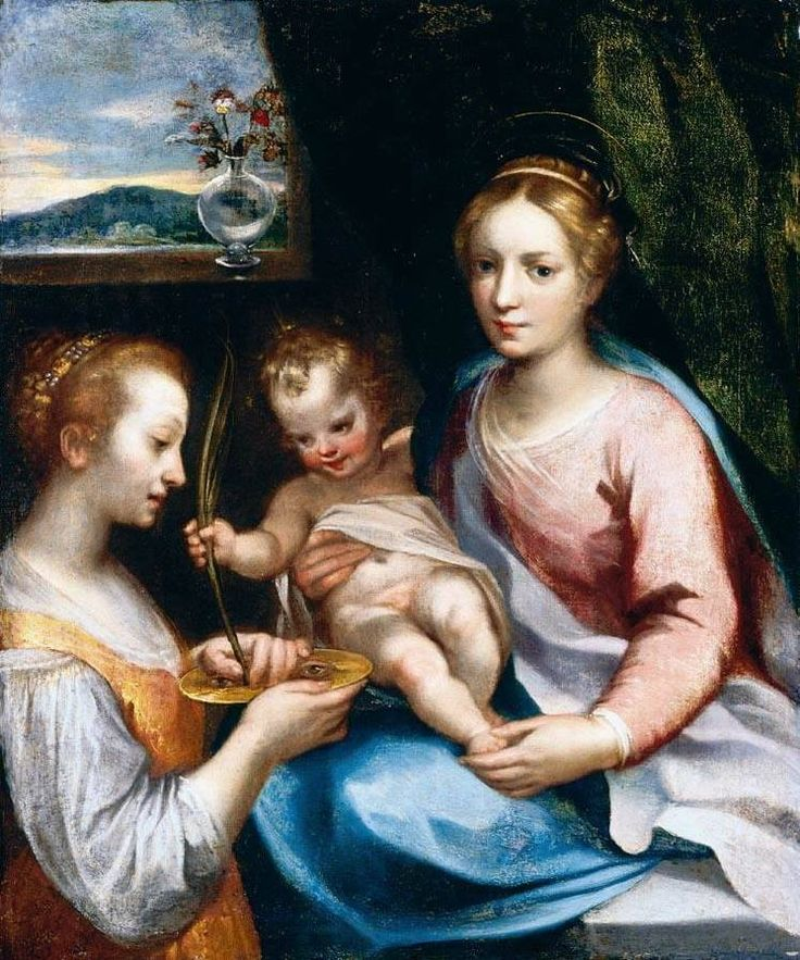 Francesco Vanni, Madonna col Bambino e santa Lucia (collezione privata). Ecco la nostra puntata dedicata all'artista: http://www.finestresullarte.info/Puntate/2010/14-francesco-vanni.php