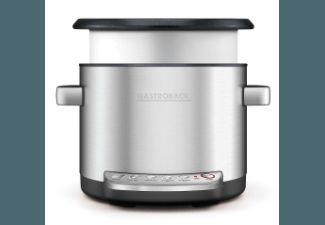 GASTROBACK 42538 Design Multicook Reiskocher, 130 euro, Dampfkocher, Slowcooker (3.7 Liter, Silber)