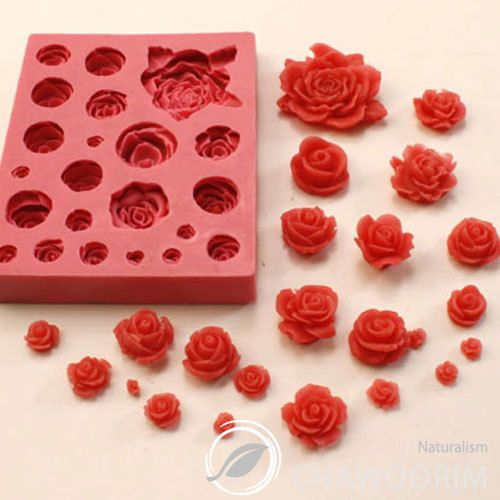 Rose Series 21pcs No 9 Decoration Silicone Molds Soap Making Supplies Chawoorim | eBay