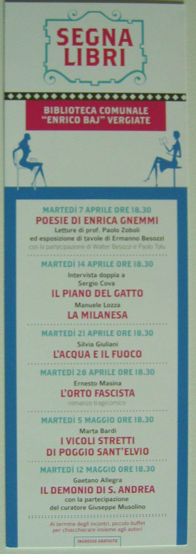 2015 invito letture poesie di Enrica Gnemmi e con tavole di Besozzi biblioteca comunale  Enrico Baj  Vergiate