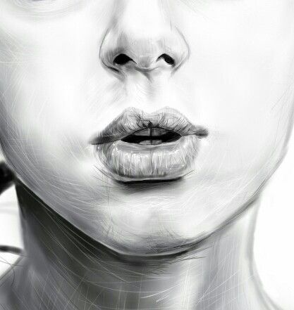#digital#draw#lip