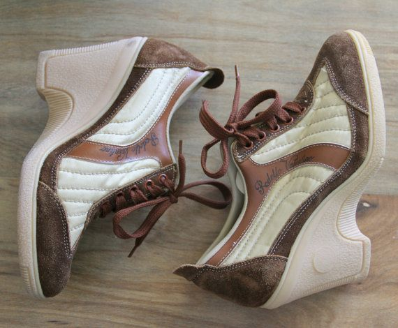 1970's Wedge Sneaker Valentino Designer Vintage Shoes Sz 7