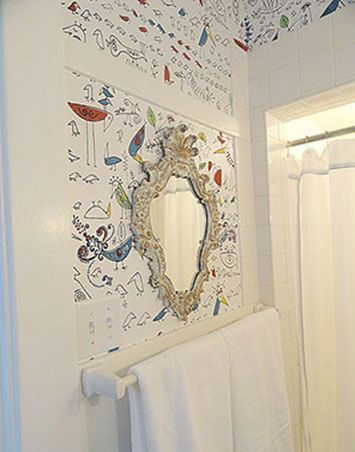 1000 images about funky cloakroom on pinterest toilets for Funky bathroom wallpaper ideas