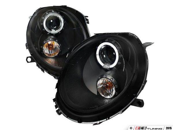 This Spec-D Tuning Halo LED Projector Black Headlights - Pair 2LHP-MIN...