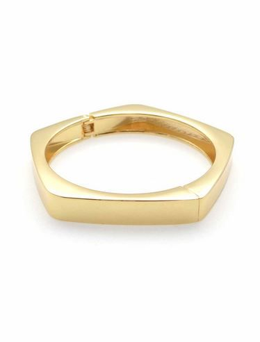 Hexagon Basic bangle - Gold