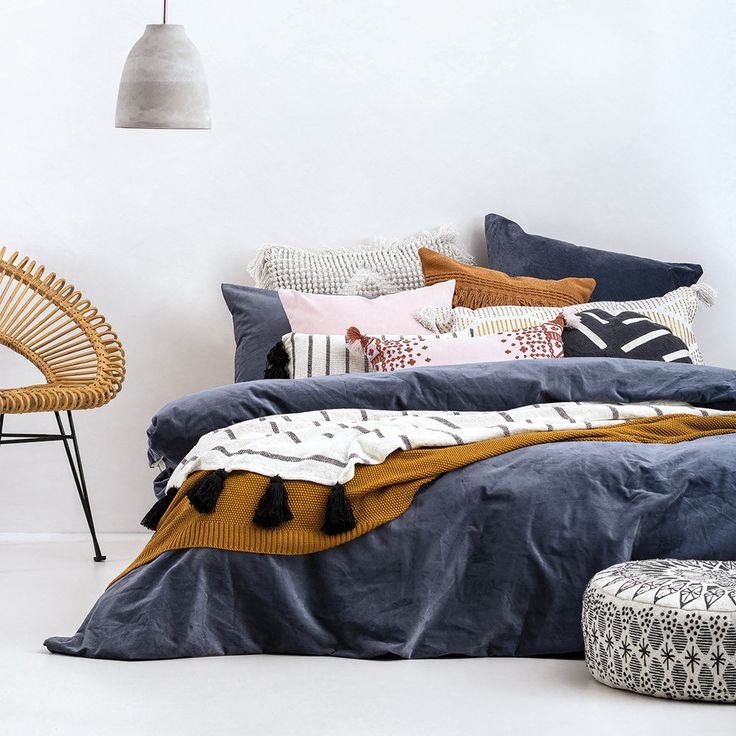 Emerson Velvet Quilt Cover Set by Bambury at queenb
