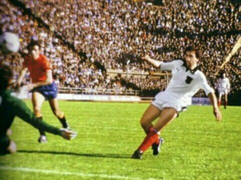 Austria 2 Spain 1 in 1978 in Buenos Aires. Hans Krankl got the winner after 76 minutes in Group 3 at the World Cup Finals.