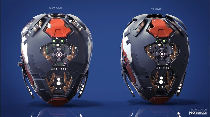 Robot Head by Richie Mason   Robotic/Cyborg   3D   CGSociety