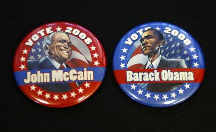 Obama vs McCain Pins